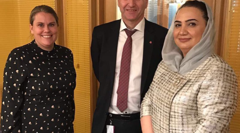ملاقات خانم بارکزی با اعضای پارلمان ناروی