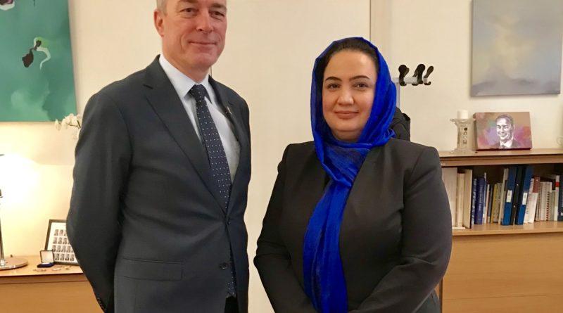 Ambassador Shukria Barakzai meets with MoD H.E. Frank Bakke-Jensen