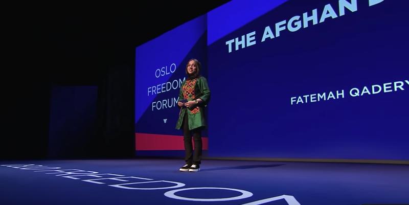 FATEMAH QADERYAN | THE AFGHAN DREAMERS | Oslo Freedom Forum 2018