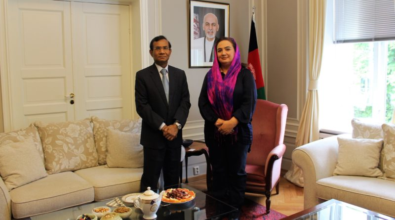H.E. Mrs. Shukria Barakzai meets with new Indian Ambassador, H.E. Mr. Krishan Kumar