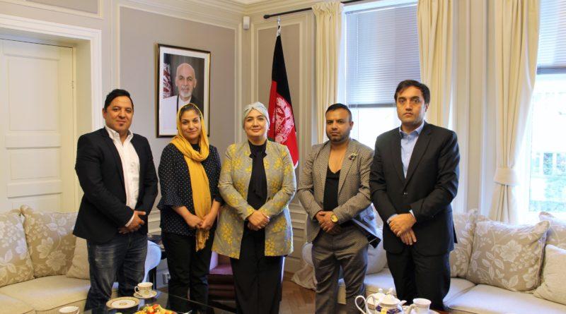 H.E. Ambassador Shukria Barakzai meets with Afghan hip-hop pioneer Bezhan Zafarmal