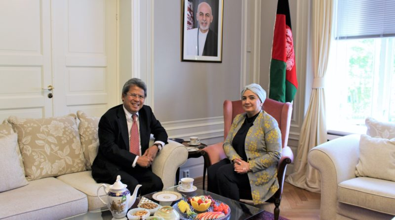 H.E. Mrs. Shukria Barakzai meets with new Indonesia Ambassador, H.E. Mr. Todung Mulya Lubis