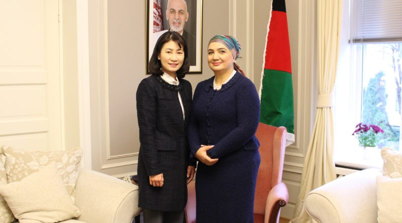 H.E. Mrs. Shukria Barakzai meets with Mrs. Young-sook Nam Ambassador Extraordinary and Plenipotentiary of Republic of Korea