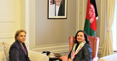 Ambassador Shukria Barakzai meets with H.E. Marie Antoinette K. H. Sedin Ambassador of Palestine