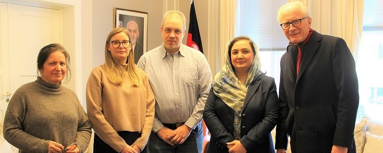 Ambassador Barakzai met with Mr. Kai Eide former UN SRSG to Afghanistan and representatives of NOAS