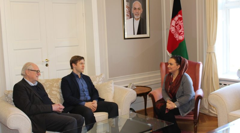 Ambassador Shukria Barakzai met with Mr. Amund Bjorsnes Executive Director Norwegian Institute of Philology and Professor Jens Braarvig