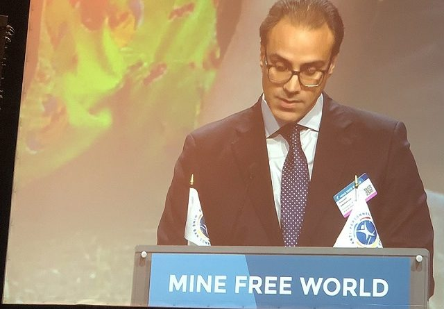 Ambassador Youssof Ghafoorzai addresses the Fourth Review Conference of Anti-Personnel Mine Ban Convention