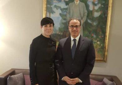 Ambassador Ghafoorzai Meets Foreign Minister Ine Marie Eriksen Søreide