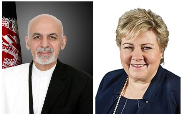 President Ghani Congratulates Prime Minister Erna Solberg  on the Occasion of Norway's National Day.
