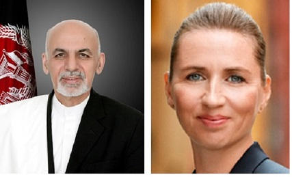 President Ghani Congratulates Danish Prime Minister Mette Frederiksen on Denmark's National Day.