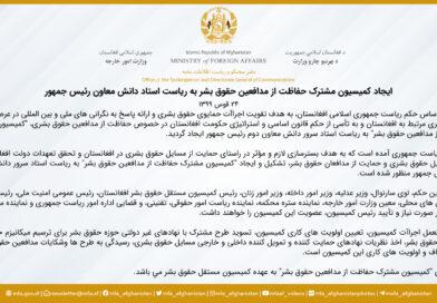 ایجاد کمیسیون مشترک حفاظت از مدافعین حقوق بشر به ریاست استاد دانش معاون رئیس جمهور