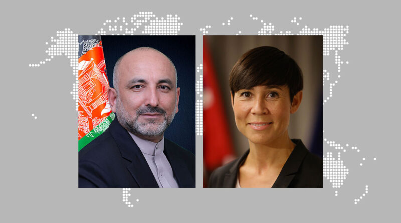 Foreign Minister Atmar Conveys Congratulatory Message to Foreign Minister Søreide on 58th Anniversary of Establishment of Afghanistan-Norway Bilateral Relations