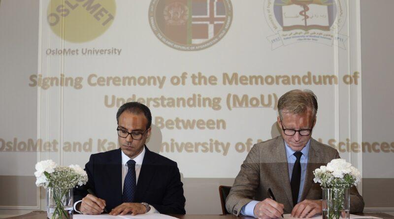 Signing of Memorandum of Understanding on Partnership Between Oslo Metropolitan University & Kabul University of Medical Sciences in the Areas of Prosthetics, Orthotics & Orthopedic Engineering