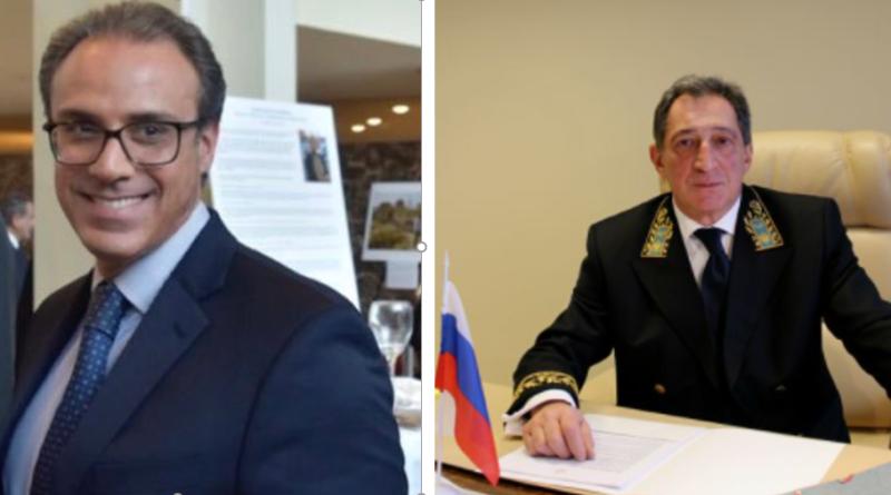 Ambassador Ghafoorzai met with Ambassador of Russian Federation to  Norway, H.E. Teimuraz Otarovich Ramishvili